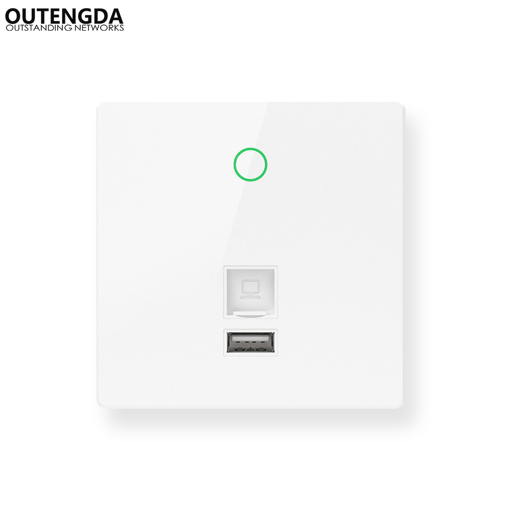 300Mbps Indoor 86 Wall Socket WiFi in Wall Access Point Wireless AP WAN LAN RJ 45 USB Charge Port Repeater Router tp link 300mbbps ap wireless access point indoor wall embedded wireless wifi router repeater tl ap300i dc 9vdc 0 6a dc power