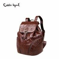 Cobbler Legend 2020 Simple Genuine Leather Backpack Women Fashion Drawstring Backpack Bucket Bag Luxury Designer Vintage Daypack