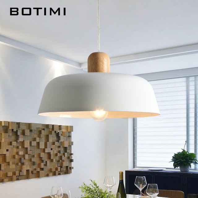 Botimi LED Pendant Lights For Dining Designer Pendant Light  with Lampshade Single E27 Bar Light Indoor Hanging Lamps Kitchen