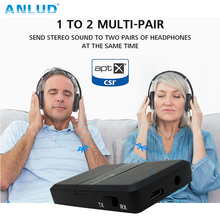Adaptador Multipunto Bluetooth Audio Receptor de Música Bluetooth Aux Coche Transmisor Dongle Aptx wireless TV Transmisión CSR8670