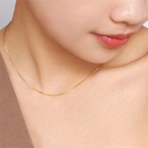 Image 4 - QYI 18K biały żółty złota róża Link Chain 16/18 cali Au750 naszyjnik wisiorek wedding Party prezent dla kobiet