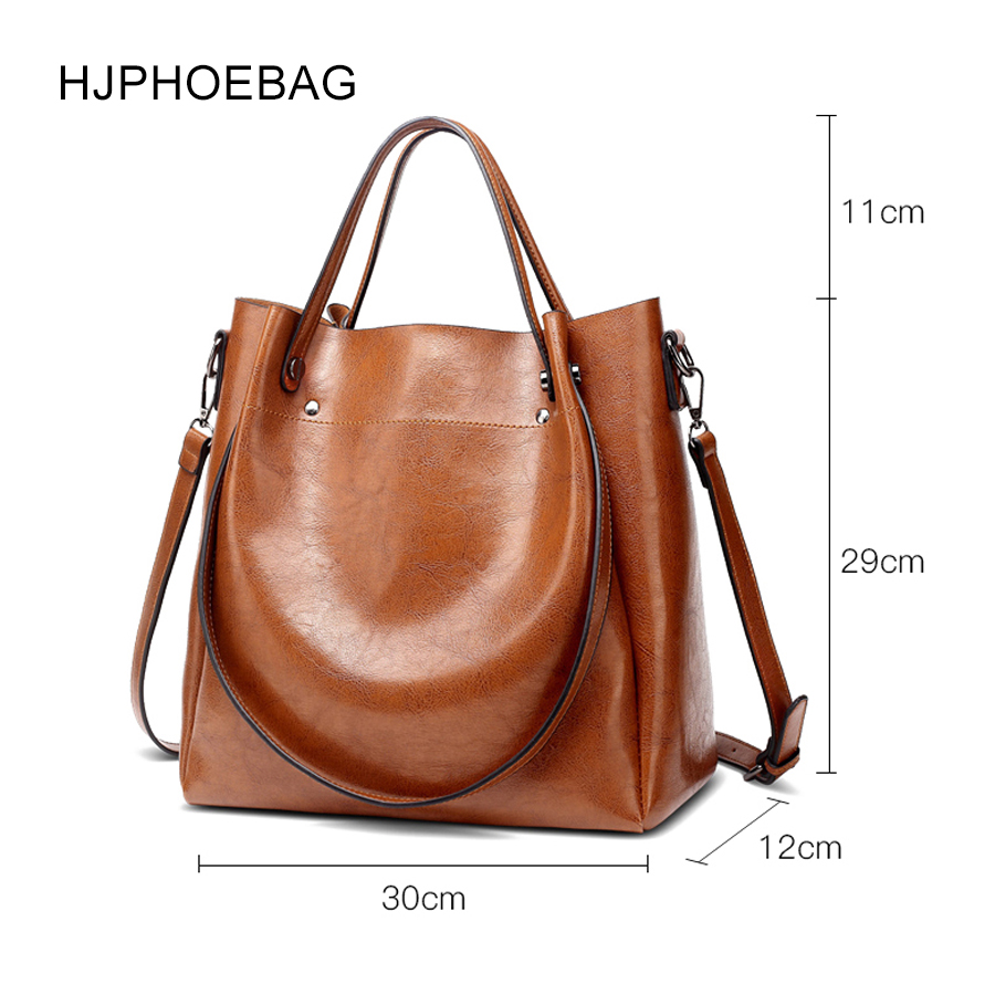 Image 2 - HJPHOEBAG women's bag designer fashion pu leather large size ladies Messenger bag high quality large capacity shoulder bag YC023-in Top-Handle Bags from Luggage & Bags