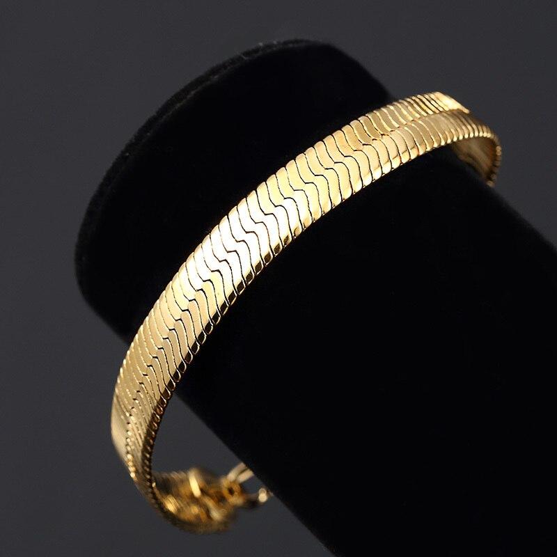 Gold Herringbone Bracelet For Men And
