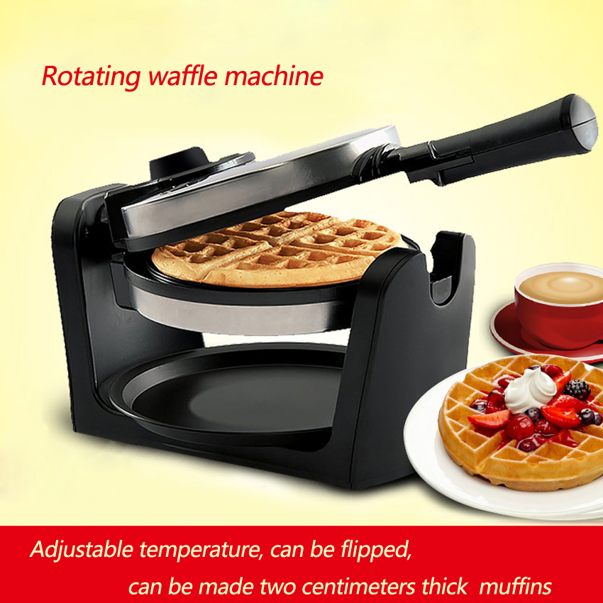 1PC Non-stick Automatic Household Electric Rotary Egg Waffle Maker Pancake Maker waffle machine 1 pc 220v 100w automatic shoe machine utilities electric induction luxurious hall household brush shoes