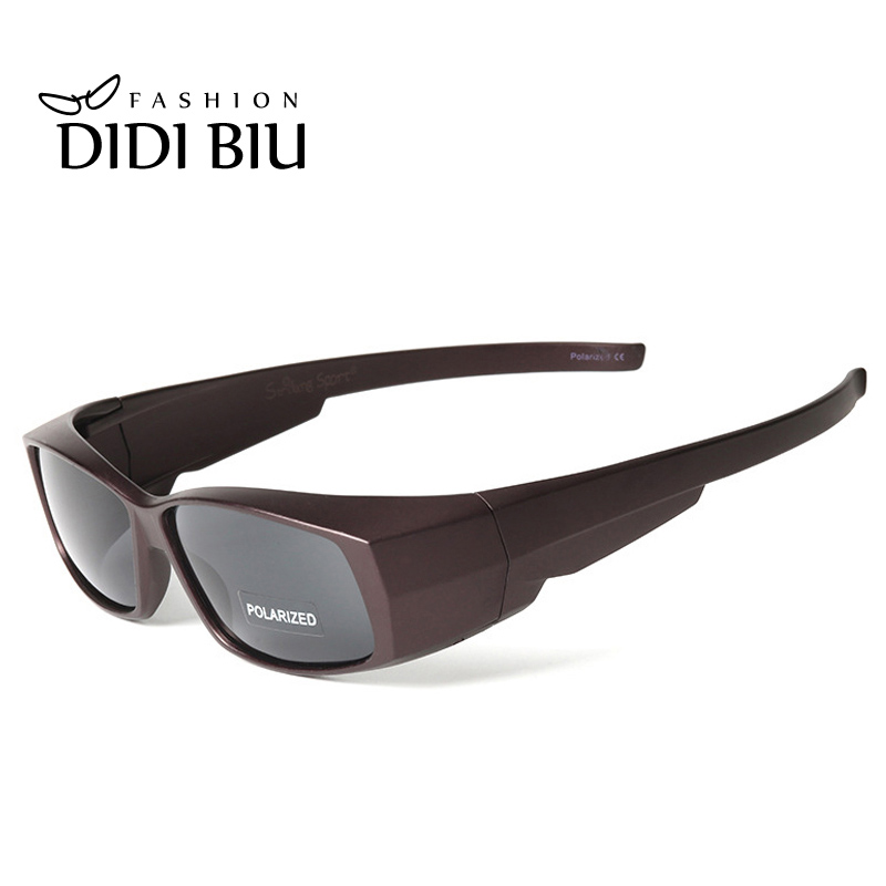 DIDI Polarized Myopia Cover Solglasögon Kvinnor Retro Rektangel Fit Over Glasses Solglasögon Män Brand Clip On Eyewear Gafas U548