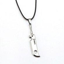 Naruto Necklace Momochi Zabuza sword Fashion Rope Pendant fans Gift Hot Anime Jewelry Accessories
