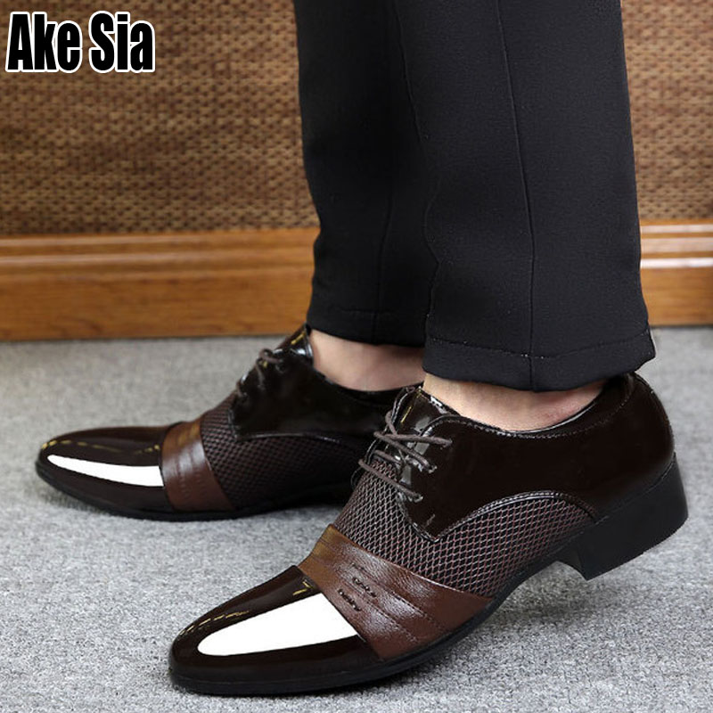 Formal Shoes Realistic Ake Sia Plus Size Men Male Youth Patent Leather Man Dress Shoes Business Wedding Formal British Style Hombre Oxford Shoes A194 Factories And Mines Men's Shoes