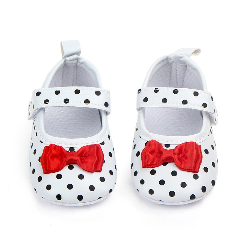 Shoes Toddler First-Walkers Anti-Slip Polka-Dot Infant Girls Kids PU