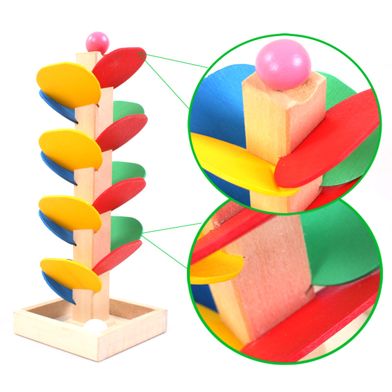 Toy Game Store In Lone Tree: 1set Wooden Tree Marble Ball Run Track Game Baby Kids