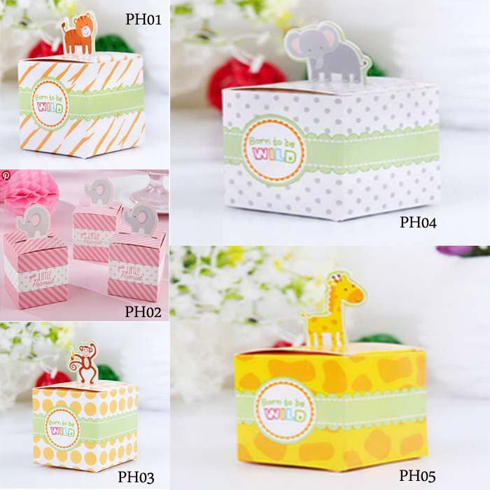 8 x Small Favor Gift Boxes Baby Shower Boy /'Little Peanut/' Elephant
