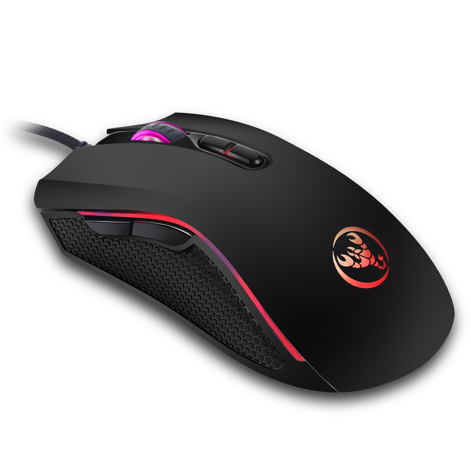 Hongsund  High-end optical professional gaming mouse with 7 bright colors LED backlit and ergonomics design For LOL CS 3