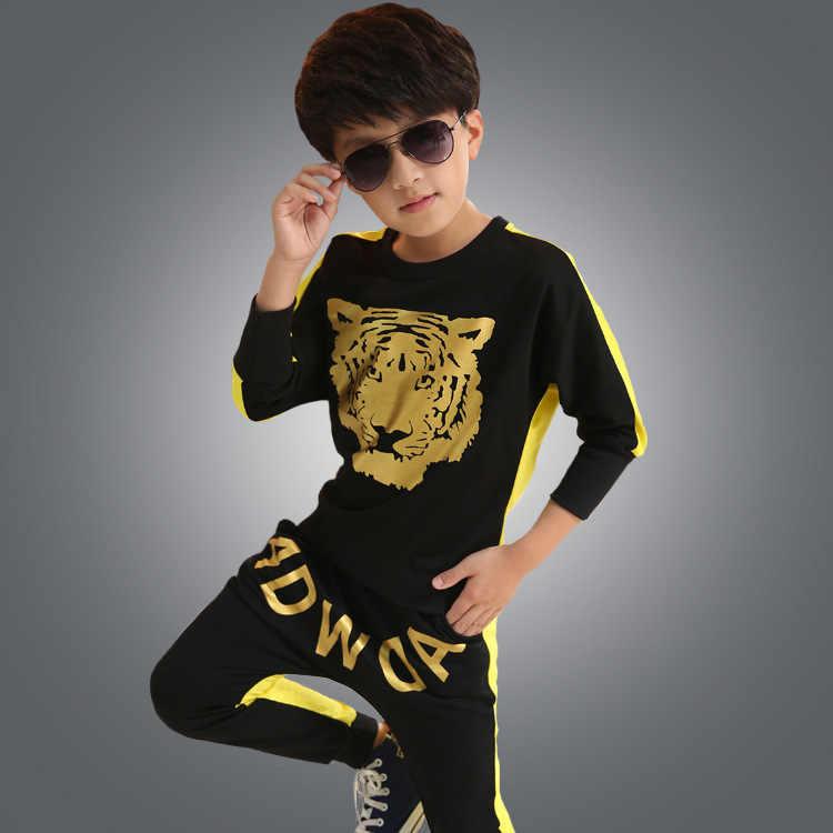 Top + Pantalones de manga larga niños Hip Hop baile disfraz niño Jazz danza ropa suelta Harem pantalones para niños escenario traje de la danza de 89