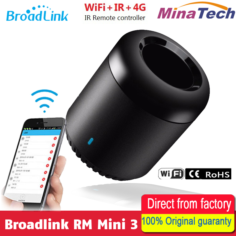 BroadLink RM Mini3 Smart WiFi Remote Controller Smart Home Automation Switch Intelligent WiFi + IR for Android & iOS 6 6S PLUS broadlink rm03 pro rm2 rm mini3 smart home automation universal intelligent remote controller wifi ir rf switch for ios android