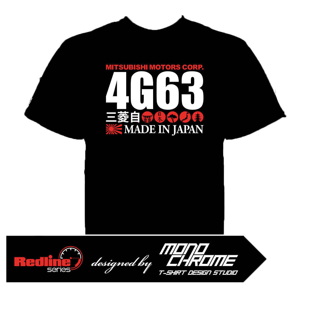 T-shirt 4G63 Lancer Evolution Galant VR-4 E39A Eclipse Airtrek