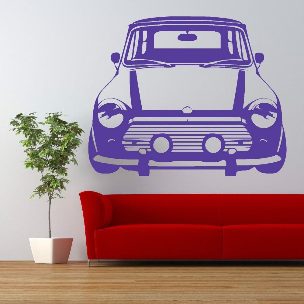 Fantastic CLASSIC MINI COOPER Vinyl Wall Art car sticker Bedroom Living Room  LX94