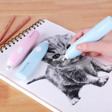 Battery Sketch Electric Eraser Automatic Rubber Electronic Eraser For Kids Clean Professional Drawing Eraser School Supplies