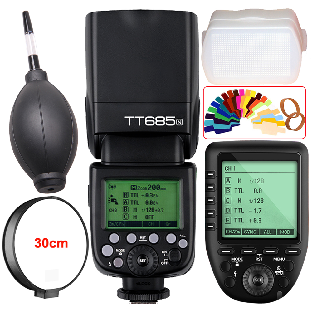 Godox TT685N 2.4G Wireless i-TTL Camera Flash Speedlite + XPro-N Trigger for Nikon D7500 D7200 D7100 D7000 D5600 D5500 D750 D5 2x godox tt685 tt685n 2 4g wireless hss 1 8000s i ttl camera flash speedlite xpro n ttl trigger for nikon dslr camera