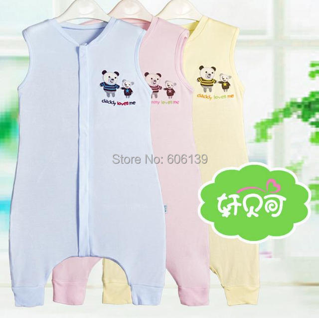 Bamboo fiber sleeveless sleeping bag Baby legs simple sleeping baby vest type summer sleeping bag free shipping
