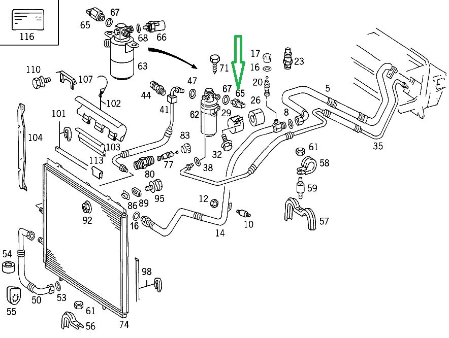 ml 320 fuel filter location