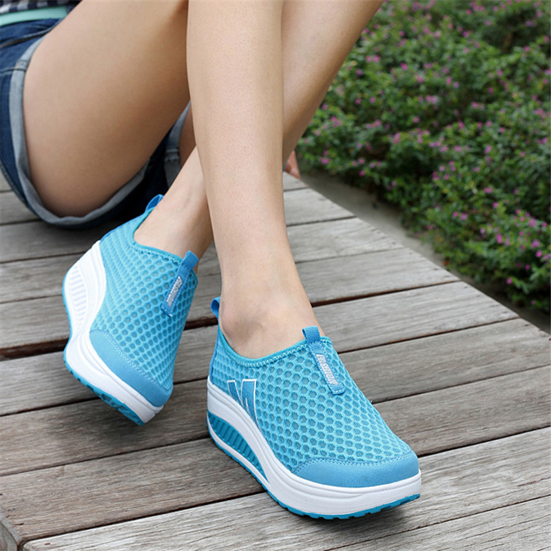 Zapatos De Mujer Female Shoes 2018 Spring  Sapato feminino Breathable Walking Sneakers Women Wedge Sneakers Casua Ladies SneakerZapatos De Mujer Female Shoes 2018 Spring  Sapato feminino Breathable Walking Sneakers Women Wedge Sneakers Casua Ladies Sneaker