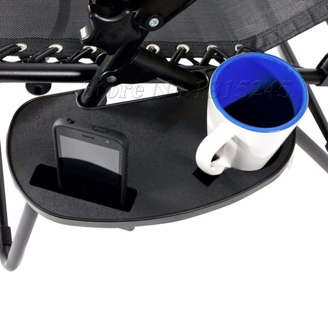 cup holder tray for zero gravity chair grey leather accent high quality clip on with mobile device slot and snack drink mug mp3 player