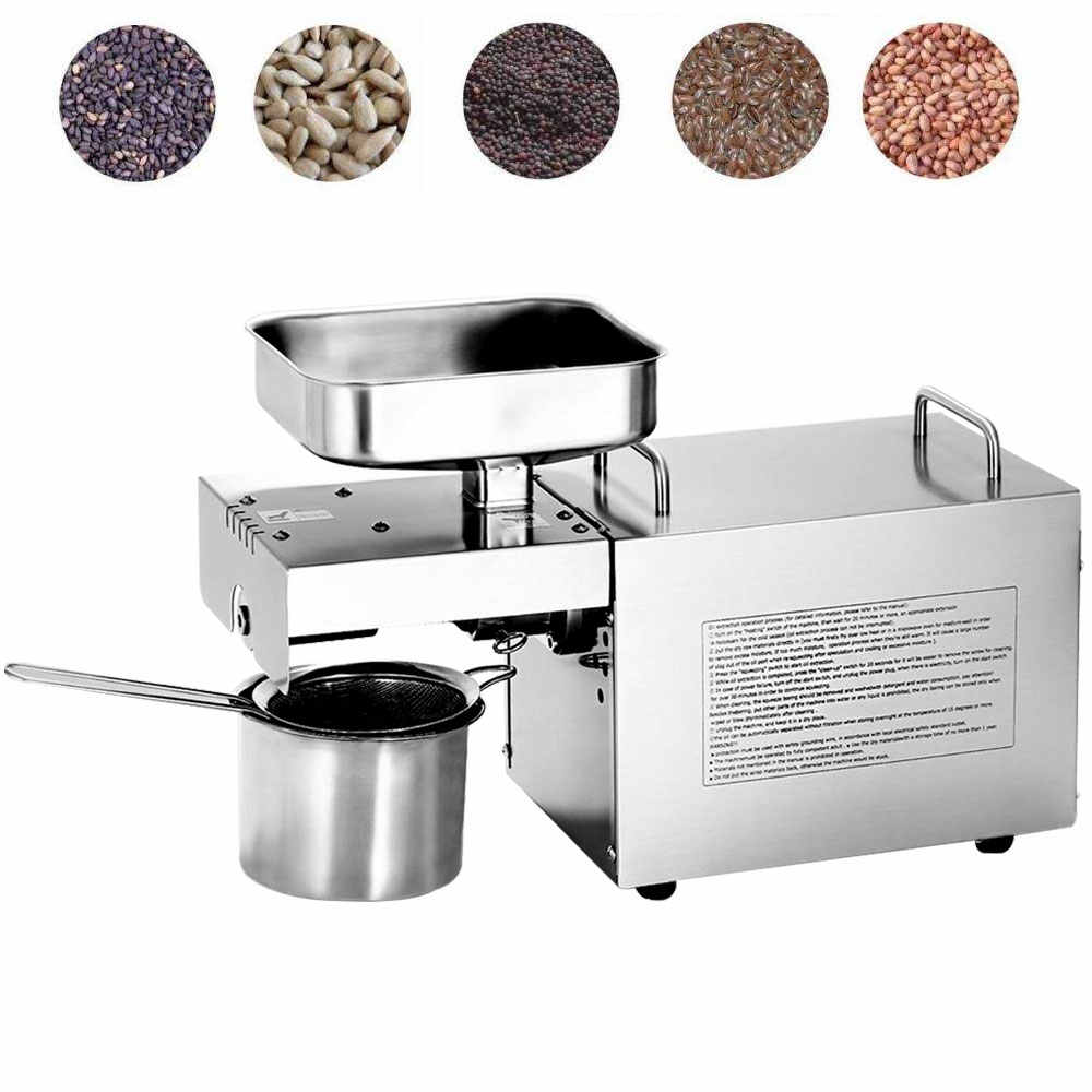110V/220V Cold/Heat commercial oil press machine huile de chanvre coconut Groundnut seeds squeeze oil machine extractor