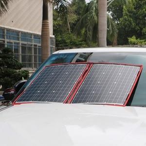 Image 2 - Dokio 18V 100w פנל סולארי 12V גמיש Foldble שמש מטען טלפון נייד usb חיצוני פנלים סולאריים עבור קמפינג/סירות/בית