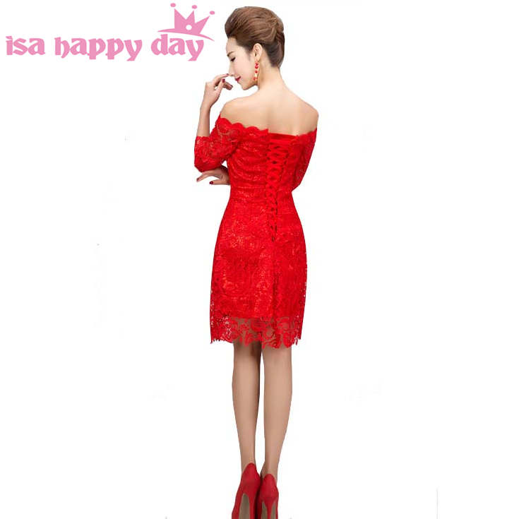 9d3c973c315 new arrivals 2019 women sexy birthday faironly classy red short tight prom  dresses bride semi formal lace dress 2018-2019 W3114