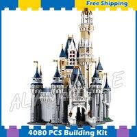 4080 шт. фильм Золушка Принцесса замок город улица создатели 16008 друзей DIY модели блоков ses Совместимость с Lego