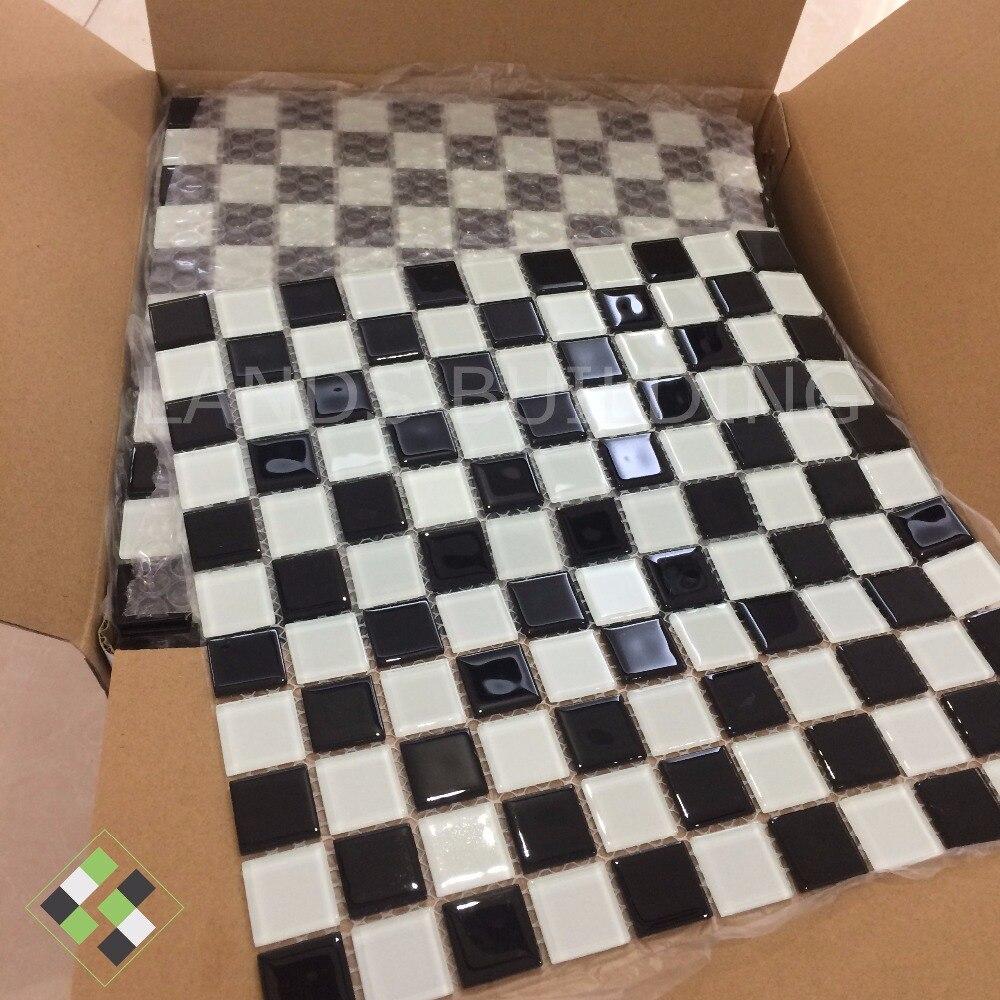 Black White puzzle 3D random crystal glass mosaic,backsplash Swimmingpool decor tile,Kitchen,Bathroom tub Home wallpaper,LSNSJ19 пазлы crystal puzzle 3d головоломка вулкан 40 деталей