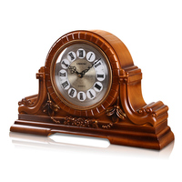 Meijswxj Retro Desktop Clock Saat Chime on every hour Table Clock Reloj Bracket clocks Living room office home decor 46*31*18cm