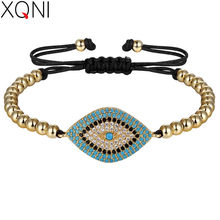 XQNI Different Colors Stitching of Rope Chain For Women Birthday Luxury Bracelet Beautiful Ladies Exclusive New Year Present(China)
