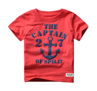2-6y 2016 Kids Tshirts Summer Children Baby Boy T shirt Short Sleeve Tees Top Cotton Child Shirt Clothing Retail