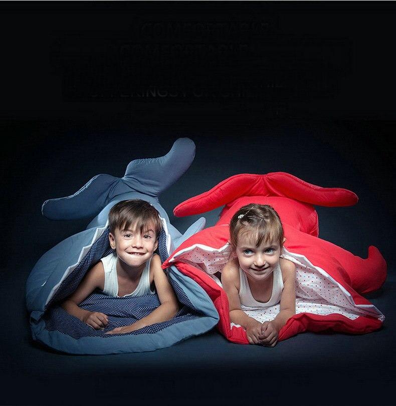 New Shark Sleeping Bag Winter Stroller Bed Swaddle Blanket Wrap Bedding Cartoon Babies Sleep Sack 050802 winter sleeping bag bed throw wrap mermaid blanket