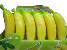 5pcs Hot  high quality fresh plastic vegetables ball pen fruit ,plastic banana pens,novelty gift