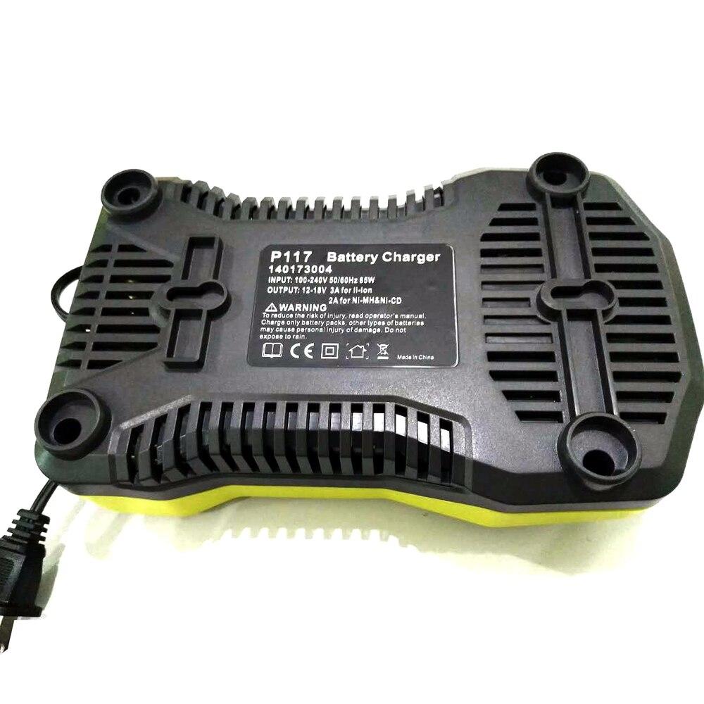 Os mais recentes de Alta Capacidade 18 v 5000 mah Li ion Bateria Recarregável Para Ryobi P108 P107 P104 RB18L40 Para ONE + Com 12 18 v P117 Carregador - 5