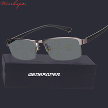 WEARKAPER Progressive Multifocal glasses Transition Sunglasses Photochromic Reading Glasses Men Points for Reader Near Far sight