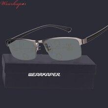 WEARKAPER التقدمية متعددة البؤر نظارات الانتقال النظارات الشمسية اللونية نظارات للقراءة الرجال نقاط للقارئ بالقرب من بعيد البصر