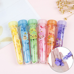 Portable Mini Body Washing Bath Test Tube Confetti Foaming Flower Paper Soap Slice Travel Accessary