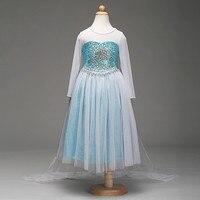 Brandwen 2017 Summer New Girls Cinderella Dresses Children Snow White Princess Dresses Party Halloween Costume Brand