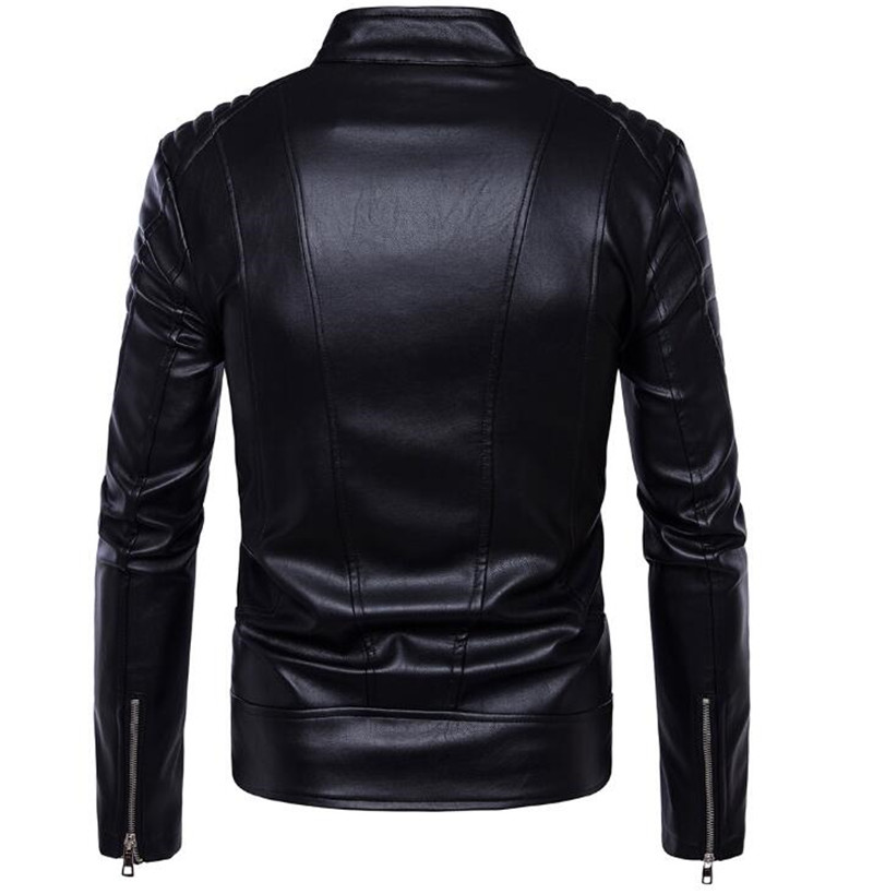 New Motorcycle Jackets Men PU Leather Jacket Vintage Retro Racing Zipper Biker Punk Casual Coats Motorcross Windproof Coat in Jackets from Automobiles Motorcycles