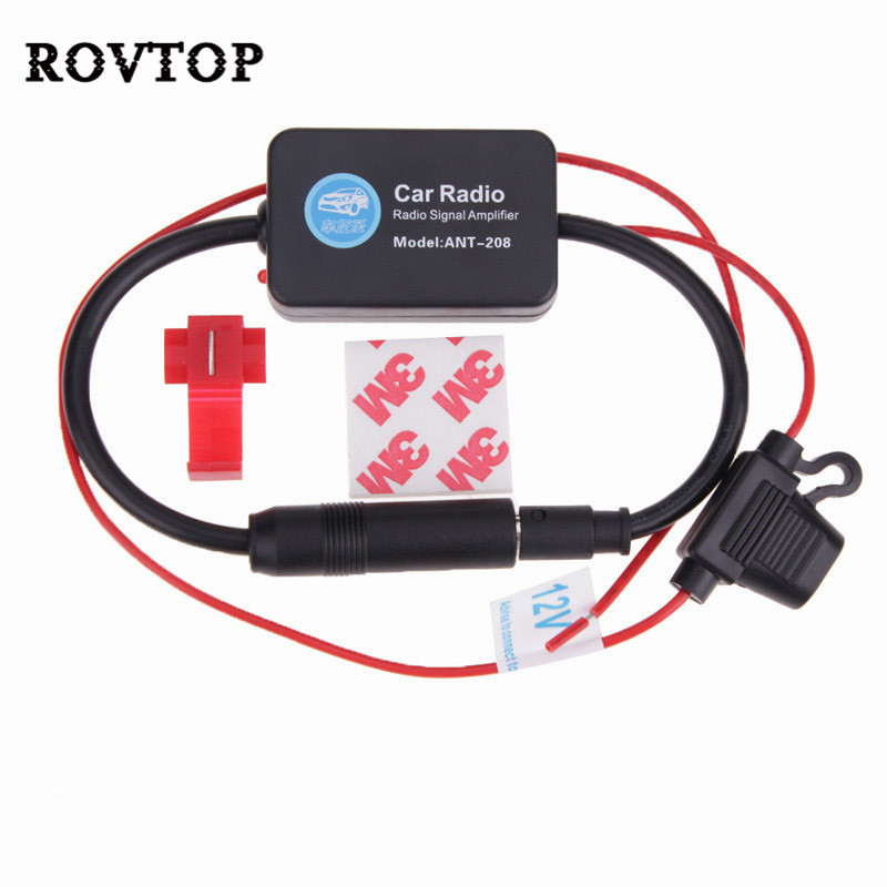 For Universal 12V Auto Car Radio FM Antenna Signal Amp Amplifier Booster For Marine Car Vehicle Boat 330mm FM Amplifier #2-in Aerials from Automobiles & Motorcycles