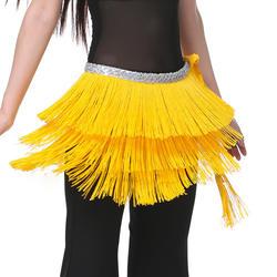 Дешевые 12 Цветов живота Одежда для танцев 3 слоя Обёрточная бумага хип шарф регулируемой посадки кисточкой Для женщин Танец живота