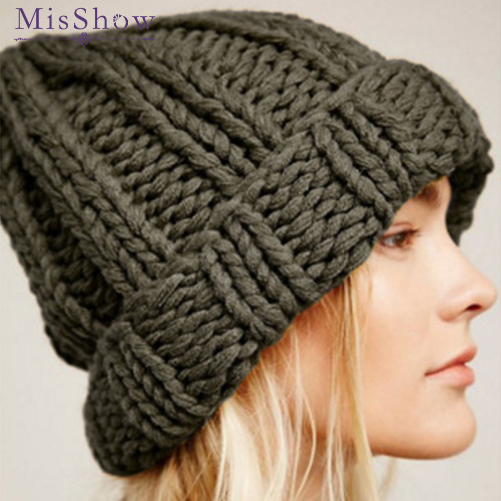 Beanies   Hat Women's Winter Caps Knitted Hat Stretchy   Skullies     Beanies   Soft Crochet Trendy Hat Female Ladies Warm Thick Bonnet