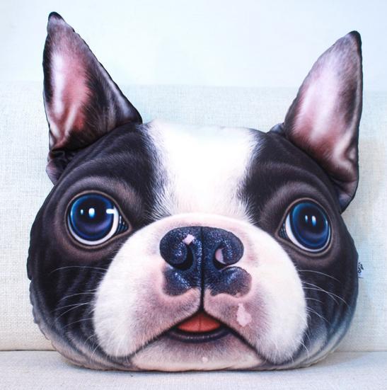 Free shipping 3D Pillow cushion Personality Car Cushion Creative dog shape Nap pillow Cute seat cushion Cartoon Plush Toy Anima