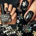 Láminas de Arte de uñas de Alta Calidad Etiqueta Holográfica Copo de nieve de Navidad Decoraciones Del Arte Del Clavo de Transferencia de Hojas de Papel Adhesivo 8229309