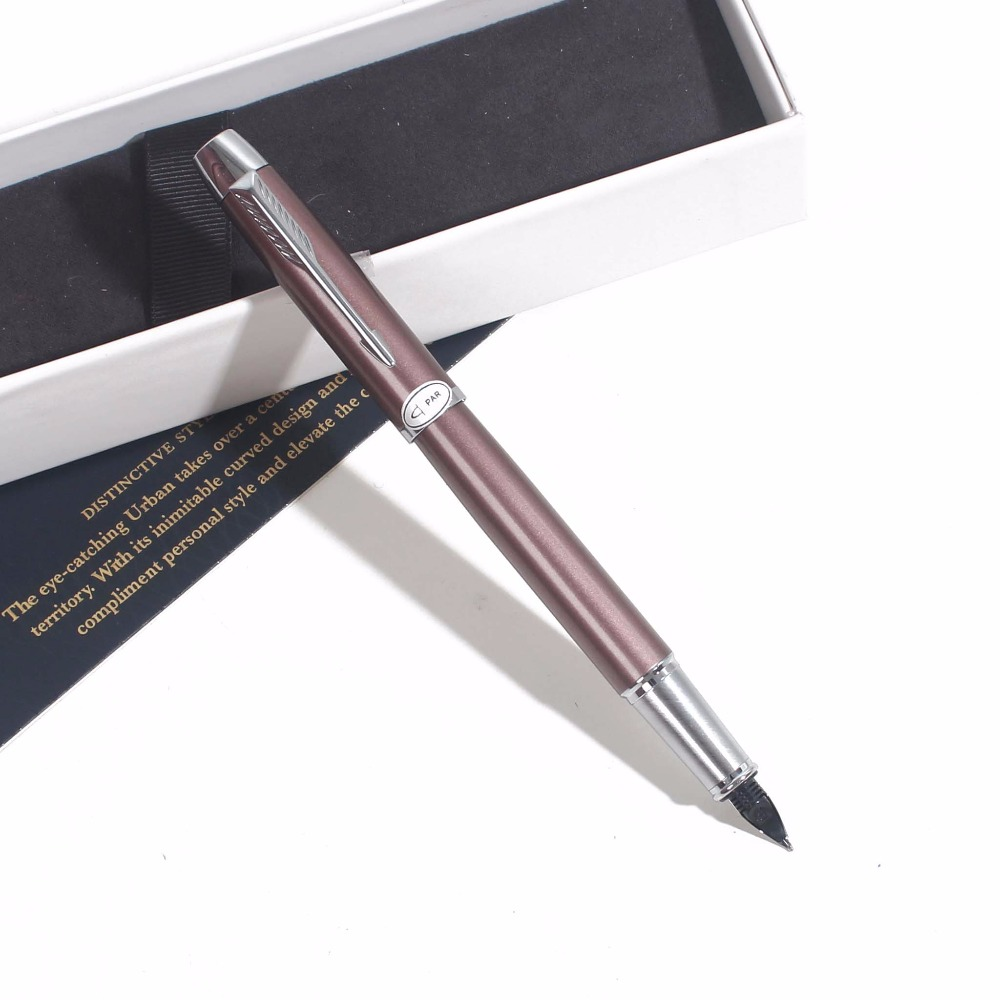 IMing Fountain Pen Office School Ink Pen With Box Gift Black Red Grey Metal Fountain Pen