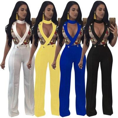 Sexy Transparent Mesh Digitaldruck Overalls Frauen Spielanzüge V-ausschnitt Halfter Ärmel Bodys Party Elegant Strampler