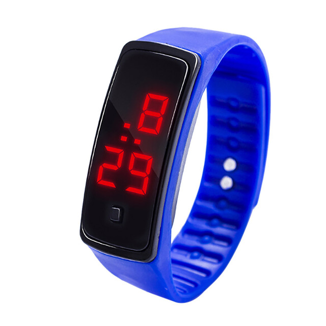 Simple Men Watch LED Digital Display Bracelet Watch Children's Students Silica G