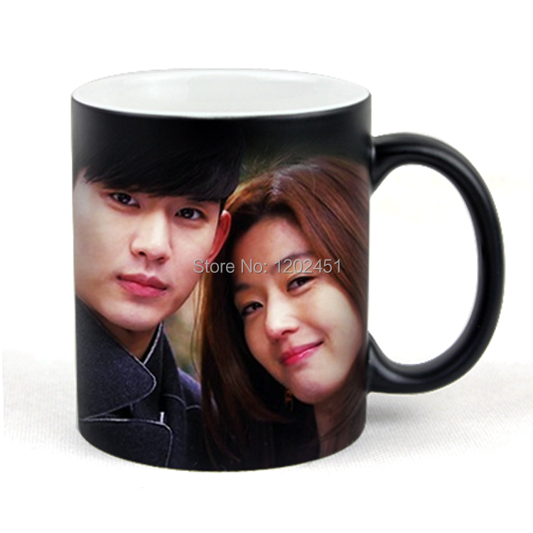 Penghantaran SPSCO Drop Mug Magic peribadi, Custom Magic Photo Mug, Warna Mug Mengubah Warna
